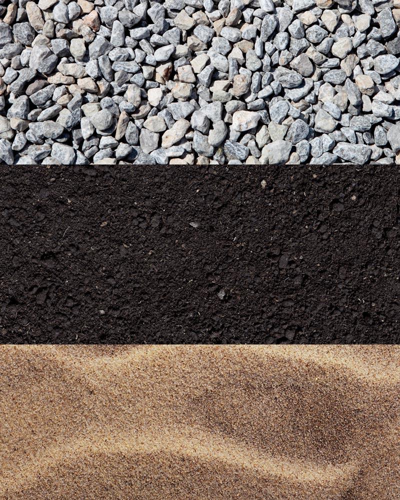 Rock / Topsoil / Sand